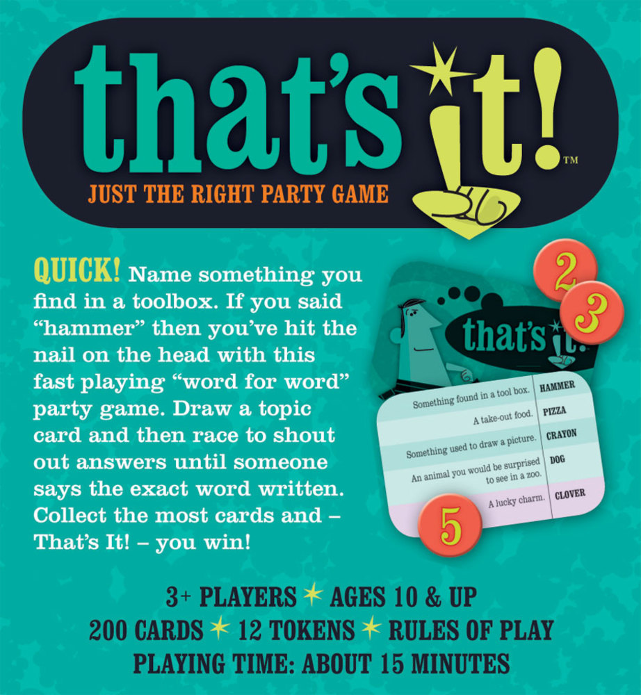 Just The Right Party Game