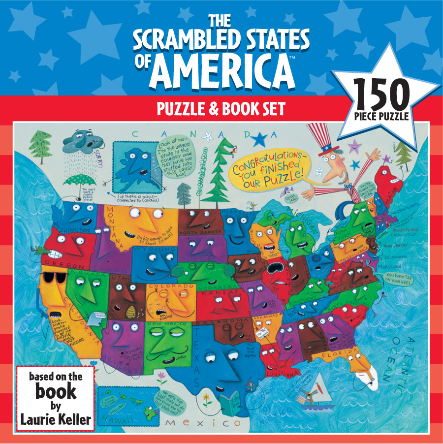 Amazon.com: Ceaco The Scrambled States of America Game ...