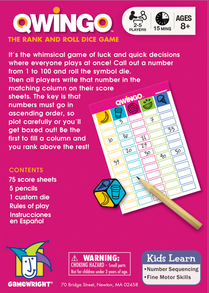 Qwingo | The Rank and Roll Dice Game | Gamewright