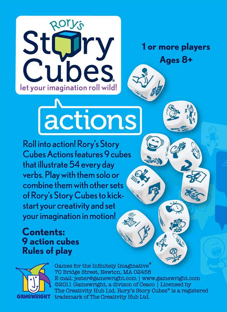 Rory039s Story CubesR  Actions