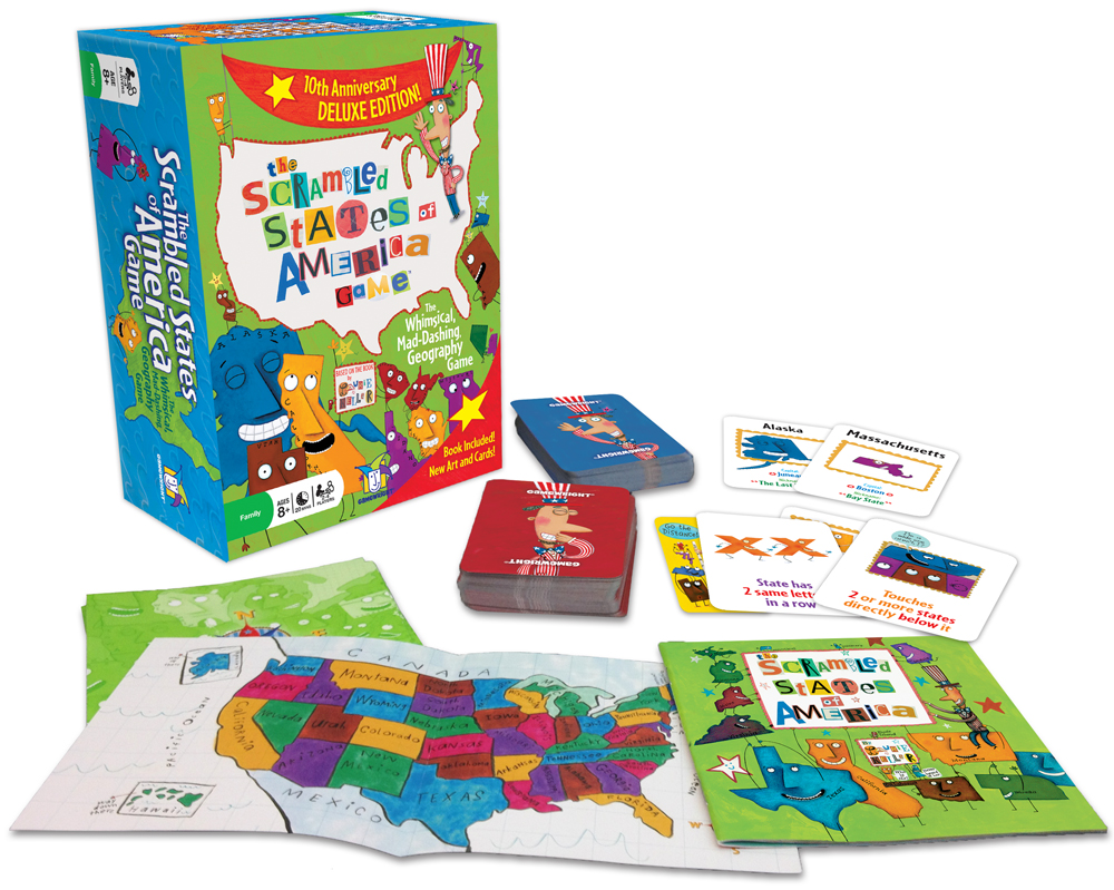 The Scrambled States of America Game - Deluxe Edition | Gamewright on