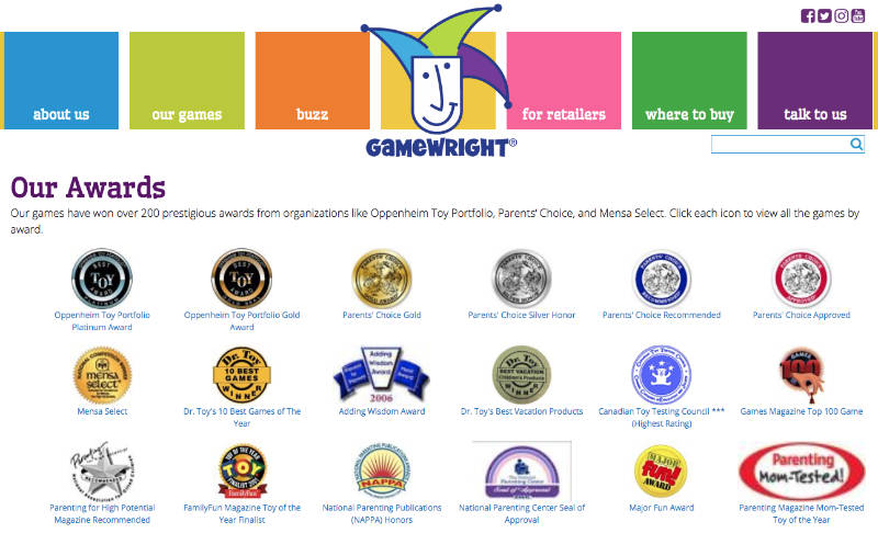 Our Awards Gamewright Games Have Won Hundreds Of Awards